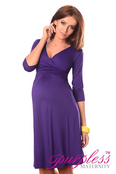 fdeffccd404bf New Ladies MATERNITY DRESS V-Neck Pregnancy Size 8 10 12 14 16 18 ...