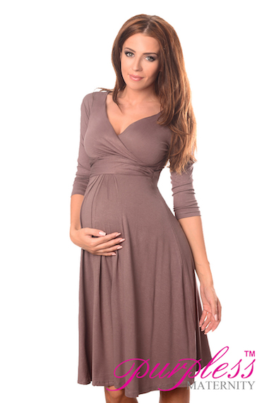 Gorgeous Maternity Dress Vneck Pregnancy Clothing Size 8