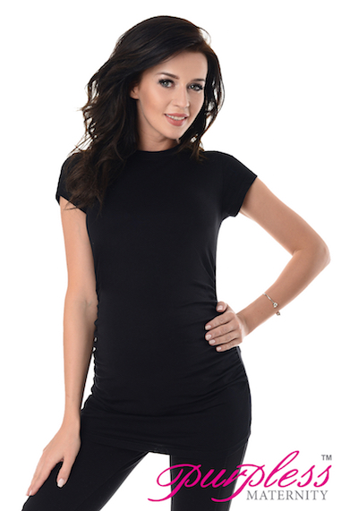 Ladies Comfortable Maternity Pregnancy Viscose Scoop Neck Tee Top T-Shirt 8-22