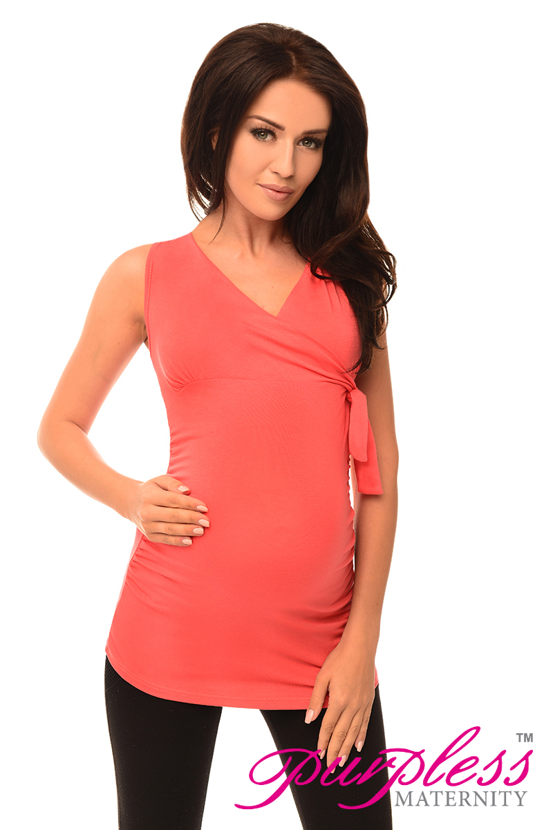 New MATERNITY V NECK TOP Pregnancy Clothing Wear Size 8 10 ...