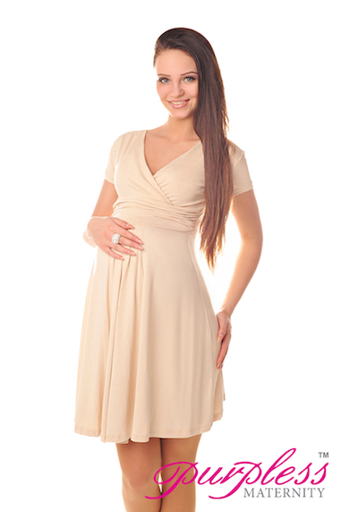 Beautiful Maternity Short Sleeve Summer Dress Size 8 10 12 ...