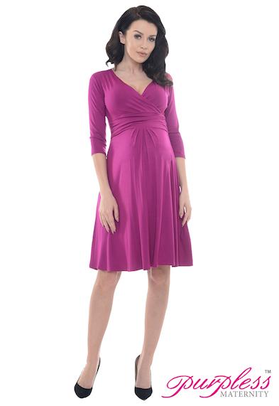 a916a3b126462 Purpless Maternity 3/4 Sleeve Pregnancy V-Neck Casual Dress Dresses ...
